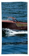 Classic Wooden Boat Beach Towel