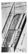 Clavichord, 1636 Beach Towel