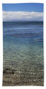 Clear Water And Coral Beach Towel