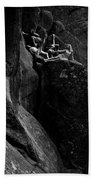 Cliff Dancers Black And White Beach Towel