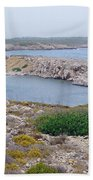 Cliffs And Coves Of Son Parc  Beach Towel