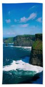 Cliffs Of Moher, Co Clare, Ireland Beach Towel
