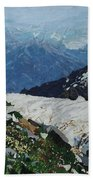 Climbing Mount Rainier Beach Towel