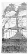 Clipper Ship, 1850 Beach Towel
