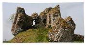 Clonmacnoise Castle Ruin - Ireland Beach Towel