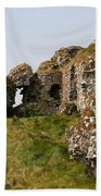 Clonmacnoise Castle Ruin - Ireland Beach Towel