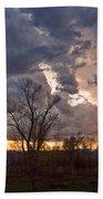 Clouded Sunset Beach Towel