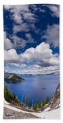 Clouds Above Crater Lake Beach Towel