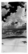 Clouds Above White Sands Beach Towel