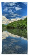 Clouds In The Lake Beach Towel by Adam Jewell