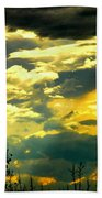 Clouds Of Many Colors Beach Towel