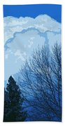 Cloudy Blue Dream Beach Towel