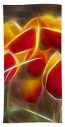 Cluisiana Tulips Fractal Beach Towel