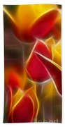 Cluisiana Tulips Triptych Panel 1 Beach Towel