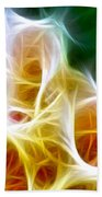 Cluster Of Gladiolas Triptych Panel 1 Beach Sheet