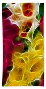 Cluster Of Gladiolas Triptych Panel 2 Beach Towel