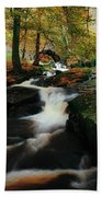 Co Wicklow, Ireland Waterfalll Near Beach Towel