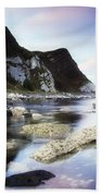 Coast Between Carnlough & Waterfoot, Co Beach Towel