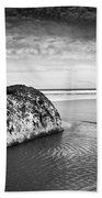 Coastal Scene Bw Beach Towel