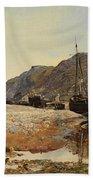 Coastal Scene Beach Towel by Henry Moore