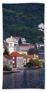 Coastal Town Of Montenegro Beach Towel