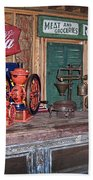 Coca Cola - Rexall - Ok Used Tires Signs And Other Antiques Beach Towel