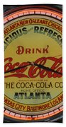 Coca Cola Clock Beach Towel