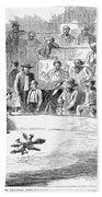 Cock Fighting, 1866 Beach Towel