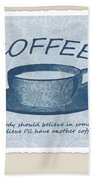 Coffee 1 Scrapbook Beach Towel