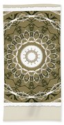 Coffee Flowers 1 Olive Medallion Scrapbook Beach Towel