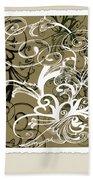 Coffee Flowers 1 Olive Scrapbook Beach Sheet