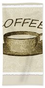 Coffee Flowers 1 Olive Scrapbook Triptych Beach Towel