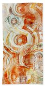 Coffee Rings Abstract Beach Towel