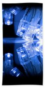 Cold Blue Led Lights Closeup Beach Towel
