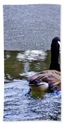 Cold Swim In The Pond Beach Towel