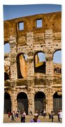 Coliseum Facade Beach Towel