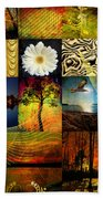 Collage Of Colors Beach Towel