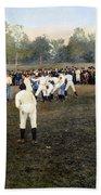 College Footbal Game, 1889 Beach Towel