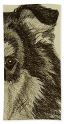 Collie Beach Towel