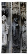 Cologne Cathedral Statues Beach Towel