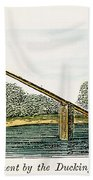Colonial Ducking Stool Beach Towel