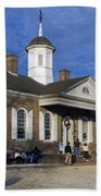 Colonial Williamsburg Courthouse Beach Towel