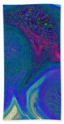 Color Swirl Abstract Beach Towel