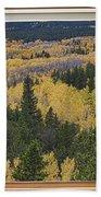 Colorado Autumn Picture Window Frame Art Photos Beach Towel