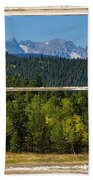 Colorado Indian Peaks Autumn Rustic Window View Beach Towel by James BO  Insogna
