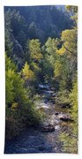 Colorado Left Hand Creek Boulder County Autumn View Beach Towel