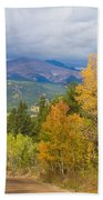 Colorado Rocky Mountain Autumn Scenic Drive Beach Towel