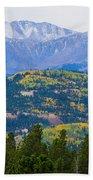 Colorado Rocky Mountain Autumn View Beach Towel
