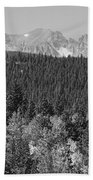 Colorado Rocky Mountain Continental Divide View Bw Beach Towel