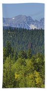 Colorado Rocky Mountain Continental Divide Autumn View Beach Towel